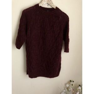 COS chunky cable knit mohair wool pullover sweater